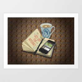 Internet Addict Art Print
