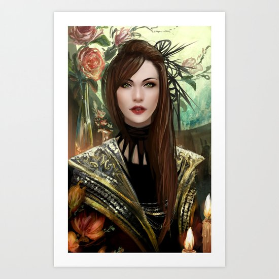 Regal - Royal portriat of an empress Art Print