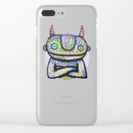 Devil with Good Intentions Clear iPhone Case