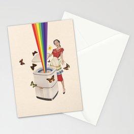 Rainbow Washing Machine Stationery Cards