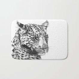 Leopard (Black & White) Bath Mat