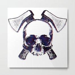 Axe Skull Metal Print