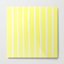 Butter Vertical Brush Strokes Metal Print