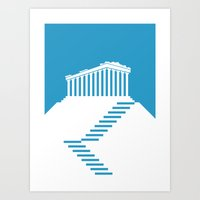 greece Art Prints featuring GREECE by Marcus Wild