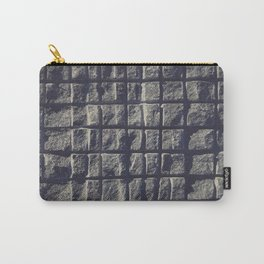 Blue Granite Wall Sawn Squares Carry-All Pouch