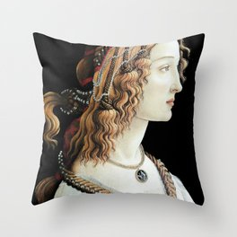 La Bella Simonetta Throw Pillow