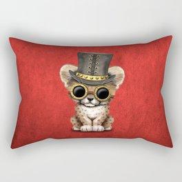 Steampunk Baby Cheetah Cub Rectangular Pillow