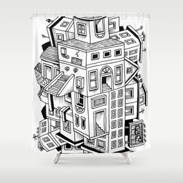 Impossible Buildings Shower Curtain