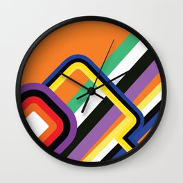 60s Geometric Shapes Wall Clock