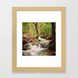 The stream. Framed Art Print