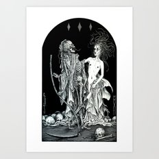 Death and the Maiden I Art Print