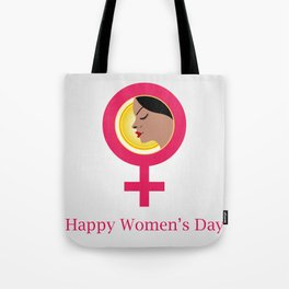 Happy womens day gifts- The Face of a woman inside a female symbol Tote Bag