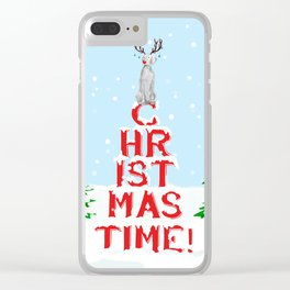 CHRISTMAS TIME WEIMARANER Clear iPhone Case