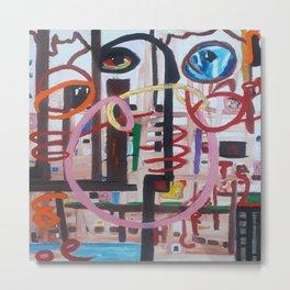 Spyralled, an acrylic abstract art. Metal Print