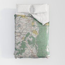 Pacific Northwest Map Comforters