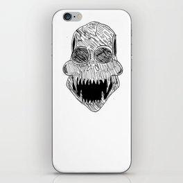 Black skull iPhone Skin