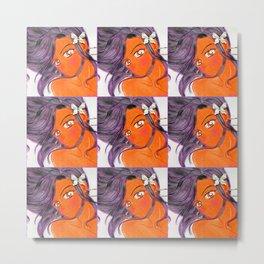 Blushing Butterfly Klip Metal Print