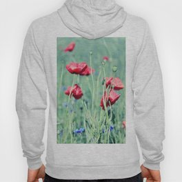 poppy flower Hoody