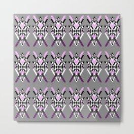 Tribal Purple - Geometric pattern Metal Print