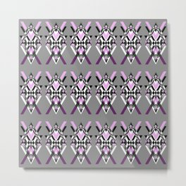 Tribal Purple - Geometric pattern Metal Print