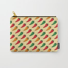Hot Peppers Doodle Pattern - Taco Series Carry-All Pouch