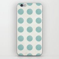 polka dots iPhone & iPod Skins featuring Polka Dots by Juste Pixx Designs