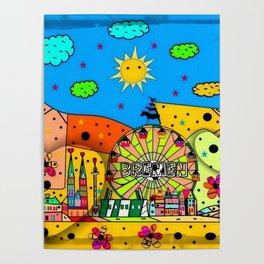 Bremen Popart by Nico Bielow Poster