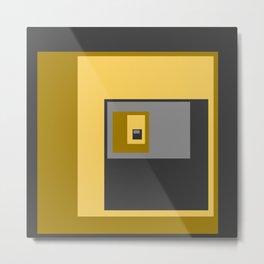 Yellow Squares Metal Print