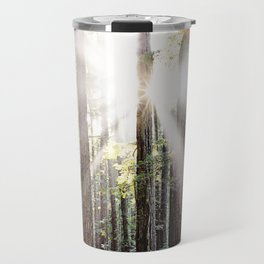 Sunburst Through the Redwoods Travel Mug