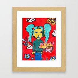 Borboleta (Butterfly) Framed Art Print
