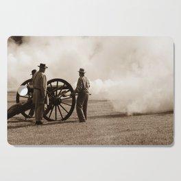 Civil War Era Cannon Firing Cutting Board