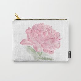 Botanical Brushstrokes ● Peony Pastel Carry-All Pouch