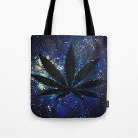 marijuana Tote Bags featuring Marijuana Galaxy by Megan Mayhem 17