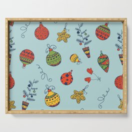 Christmas Toys Pattern Serving Tray