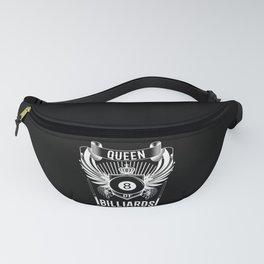 Queen Of Billiards Black Billiard Ball Fanny Pack