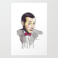 pee wee Art Prints featuring Pee Wee by Jesse Robinson Williams