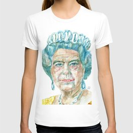 ELIZABETH II - watercolor portrait T-shirt