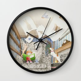 Nana's Sketchbook Wall Clock