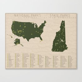 US National Parks - New Hampshire Canvas Print