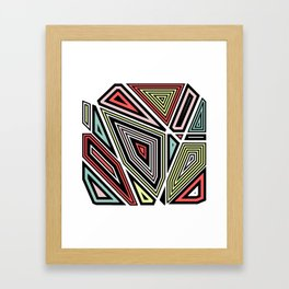 Through This Maze Framed Art Print