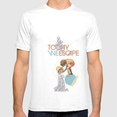 TODAY WE ESCAPE Mens Fitted Tee White MEDIUM