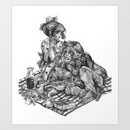 Inktober 2017: 'Cadaverous Cowboys' Art Print