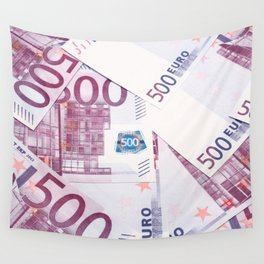 500 Euros bills Wall Tapestry