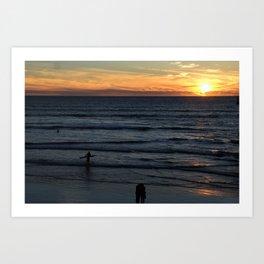 Sunset at Pismo Art Print