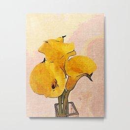 Triplet Yellow Bell Flowers Metal Print