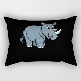 Children's Rhino Gift Motif Rectangular Pillow