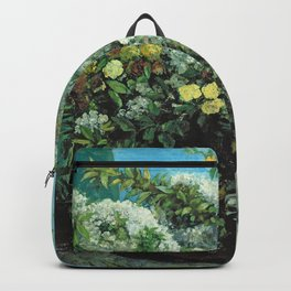 Gustave Courbet - Flowering Branches And Flowers Backpack