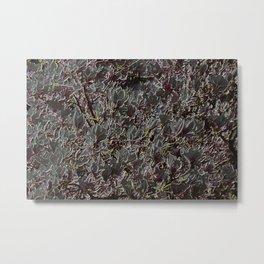 dark magnolia pattern Metal Print