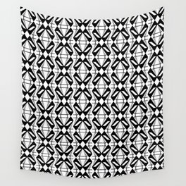Abstract [BLACK-WHITE] Emeralds pattern Wall Tapestry