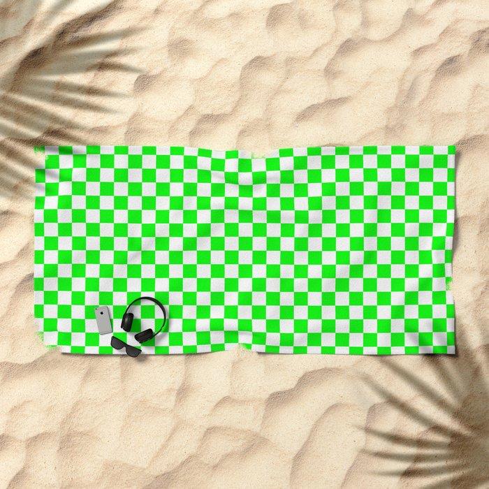 Checker (Green/White) Beach Towel